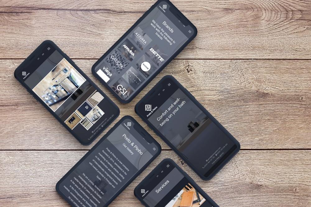 A sleek modern website